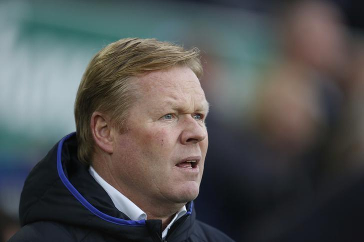 Everton manager Ronald Koeman before the game.  Action Images via Reuters / Ed Sykes Livepic