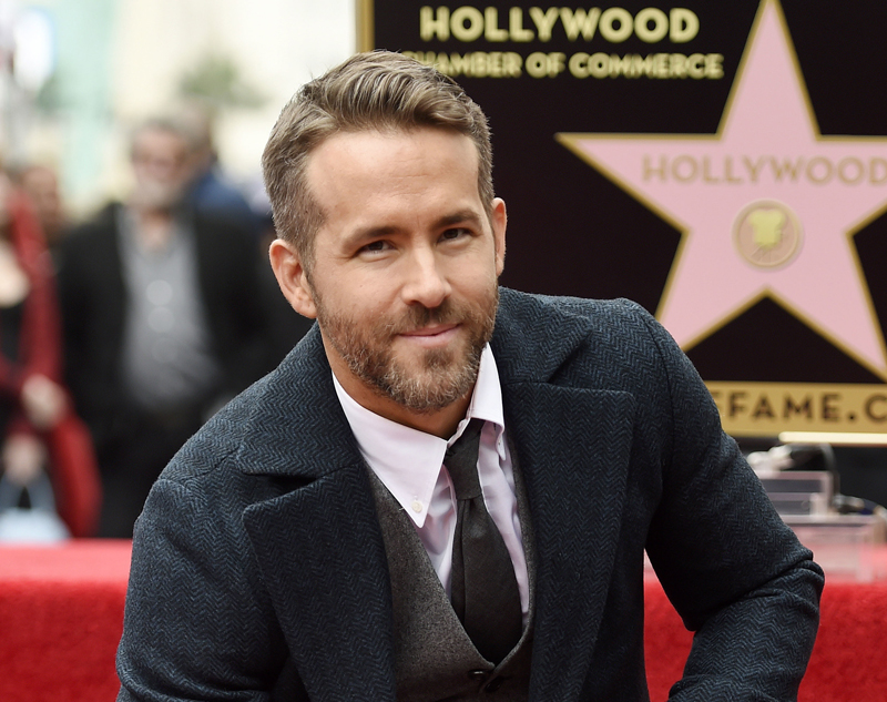 FILE - In this Dec. 15, 2016 file photo, actor Ryan Reynolds poses at a ceremony honoring him with a star on the Hollywood Walk of Fame in Los Angeles. Photo: AP