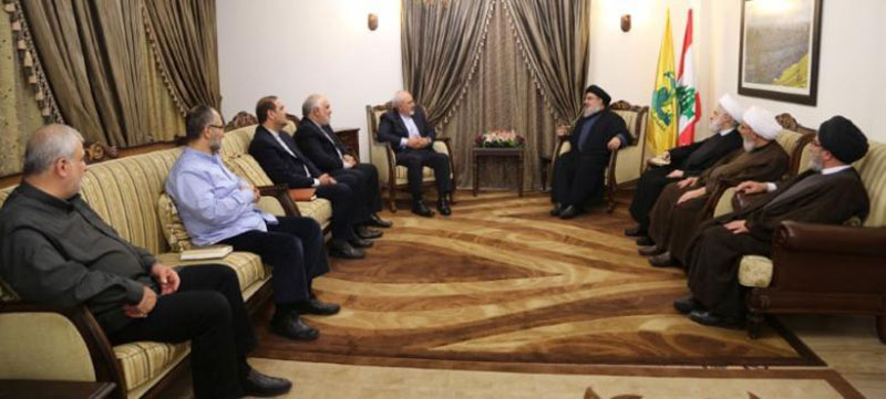 Lebanon's Hezbollah leader Sayyed Hassan Nasrallah meets with Iran's Foreign Minister Mohammad Javad Zarif in this handout picture released by Hezbollah Media office, November 8, 2016. Photo: Hezbollah Media Office/Handout via Reuters