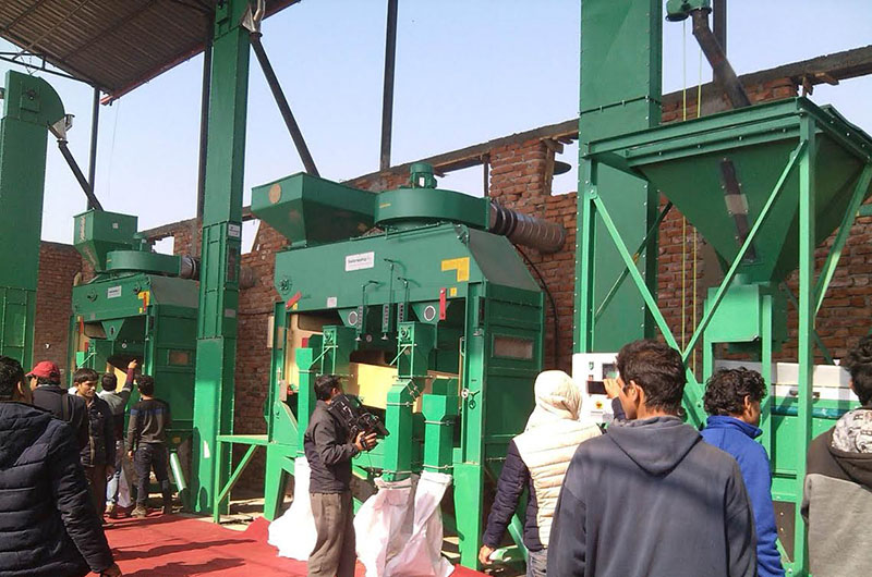 Seed processing and testing machines installed at Agriculture and Forestry University, in Rampur, Chitwan, on Monday, January 23, 2017. Photot: THT