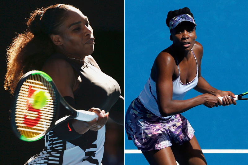 Serena Williams (left) and Venus Williams. Photos: Reuters