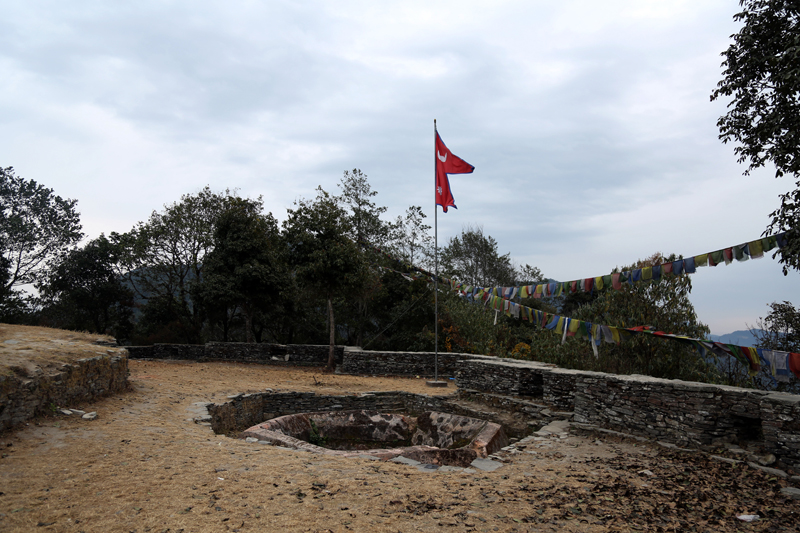 Sindhuligadhi, which had a historic fort, in Sindhuli district awaits conservation, as captured on Saturday, January 28, 2017. Photo: RSS