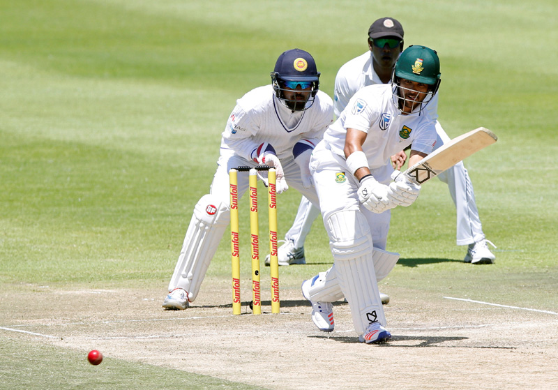 South Africa's JP Duminy plays a shot. Photo: Reuters