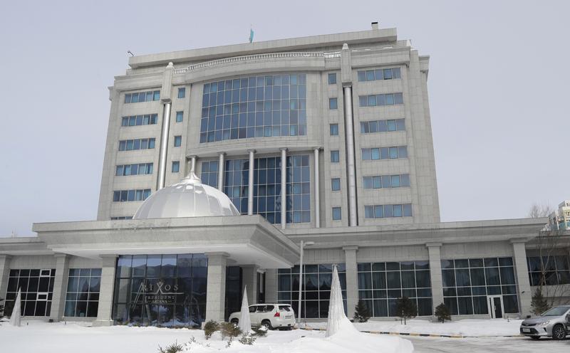 Astana's Rixos President Hotel, the place that will host Syria peace talks, seen in Astana, Kazakhstan, on Sunday, Jan. 22, 2017. Photo: AP