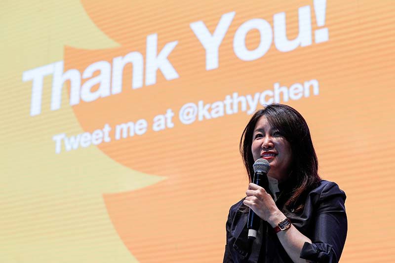 Kathy Chen speaks at a forum in Shanghai, on October 18, 2016. Picture taken October 18, 2016. Photo: Reuters