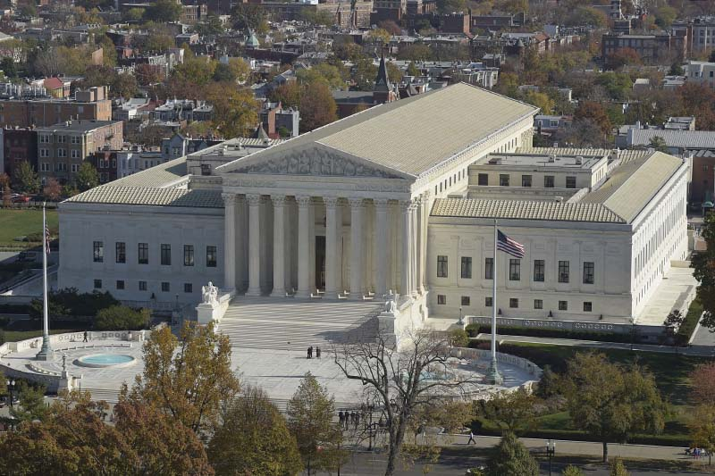 File-A view of the US Supreme Court from the Capitol Dome, on Capitol Hill in Washington on November 15, 2016. Photo: AP