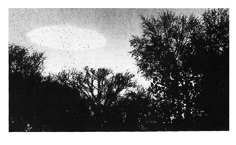 Unidentified Flying Object (UFO) sighted in the sky over Minneapolis, in Minnesota, US, on October 20, 1960. Photo: cia.gov