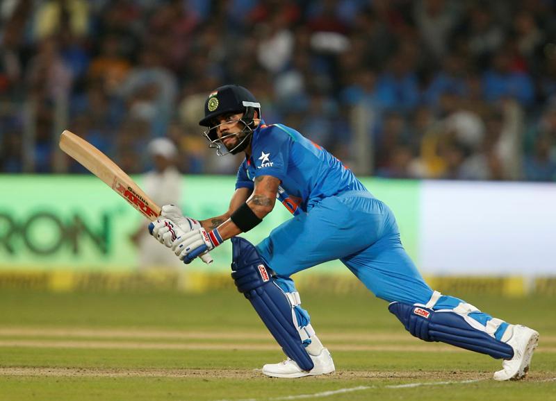 India's captain Virat Kohli plays a shot. Photo: Reuters