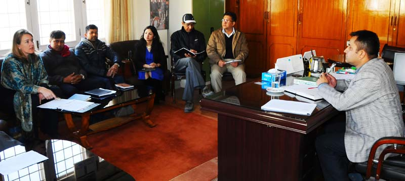 World Bank representatives hold a meeting with PACT Director Govinda Prasad Sharma about financing the Agribusiness Innovation Centre, in Kathmandu, on Friday, January 20, 2017. Photo: PACT