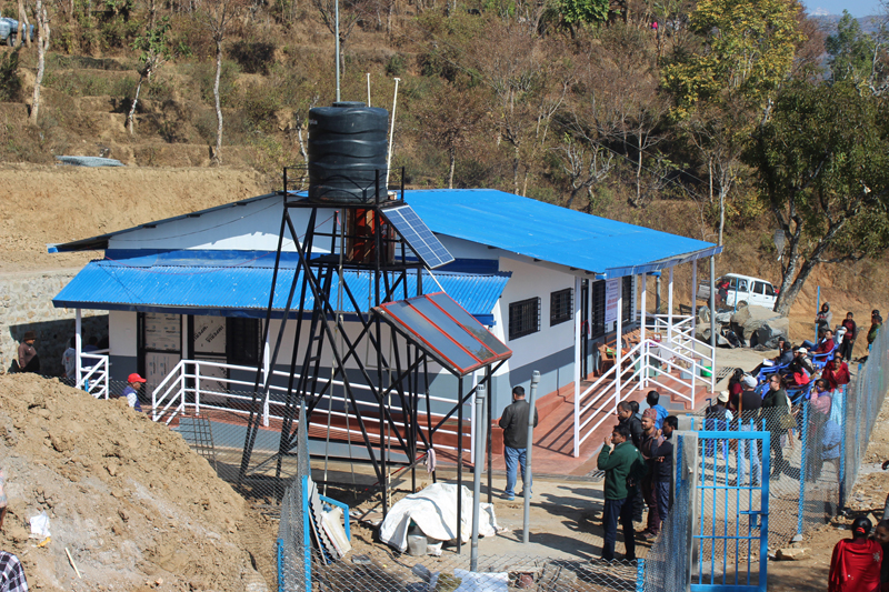 A reconstructed health post at Aanppipal of Gorkha district, on Monday, January 30, 2017. Photo: RSS