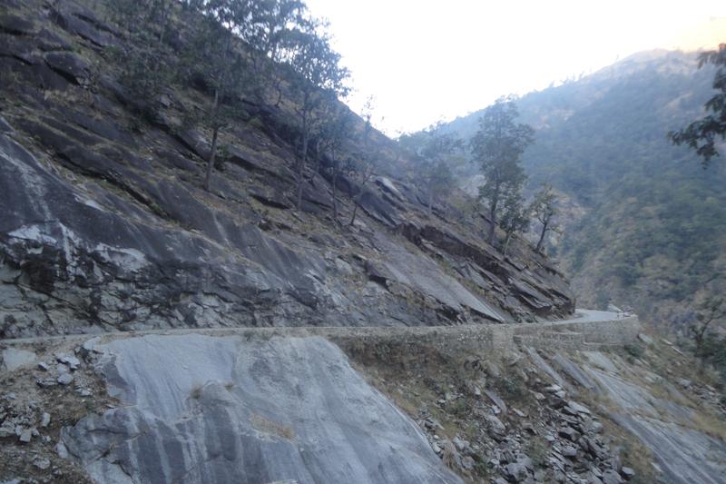 A section of the Karnali Highway in Kalekhola of Kalikot district, as captured on November 20, 2016. Photo: Diwakar Pyakurel/File