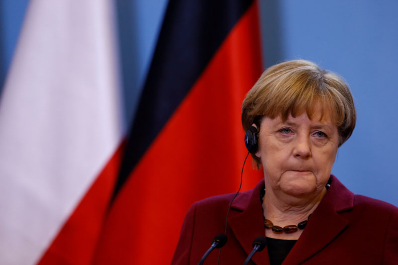 German Chancellor Angela Merkel attends a press conference in Warsaw, Poland, on February 7, 2017. Photo: Reuters