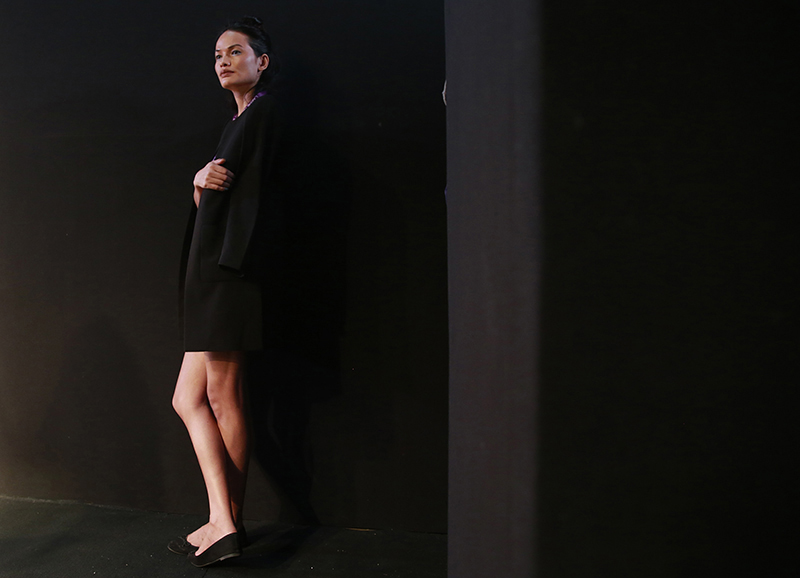 Anjali Lama waits backstage for rehearsals during Lakme Fashion week in Mumbai, India, on February 1, 2017. Photo: AP