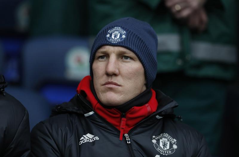 Manchester United's Bastian Schweinsteiger before the match. Photo: Reuters