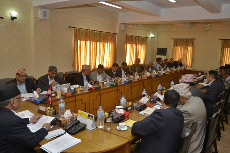 A Cabinet meeting held in the Office of the Prime Minister and Council of Ministers in Singha Durbar, on Sunday, February 12, 2017. Photo Courtesy: PMu2019s Secreatariat