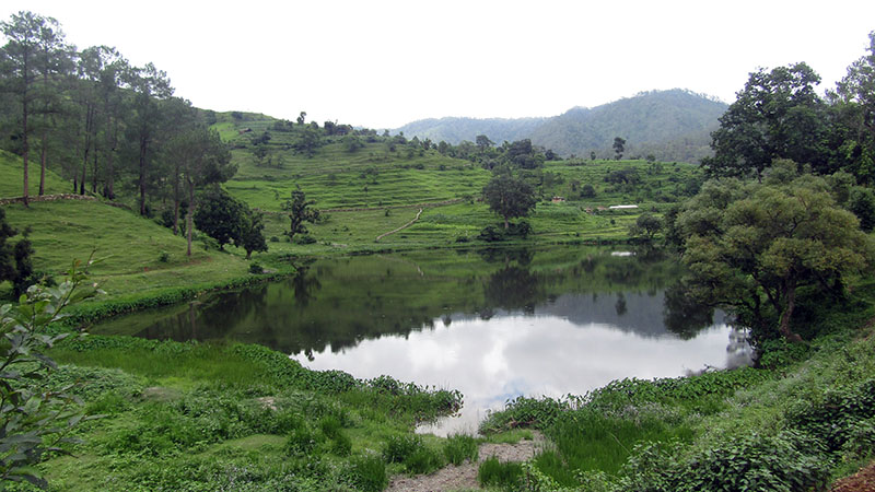 Chhatiwan Lake located in Jorayal region of Doti district, on Saturday, February 11, 2017. The lake is in limbo in lack of conservation. Because of superstition that the one who measures the depth of the lake dies, the depth of the lake is yet to be ascertained. Photo: RSS