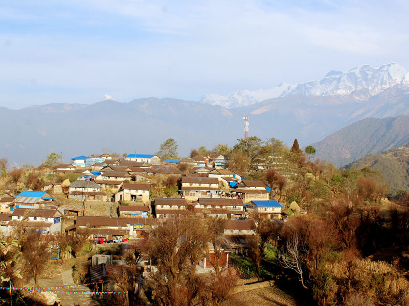 Ghalegaun of Lamjung district, which is one of the model touristic destinations in SAARC countries, is seen in the picture on February 4, 2017. Photo: RSS