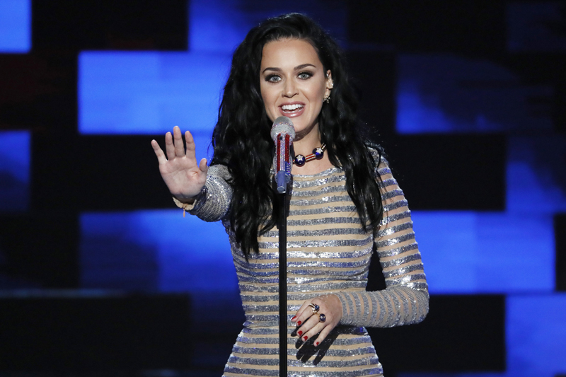 FILE - In this July 28, 2016 file photo, singer Katy Perry performs during the final day of the Democratic National Convention in Philadelphia. Photo: AP