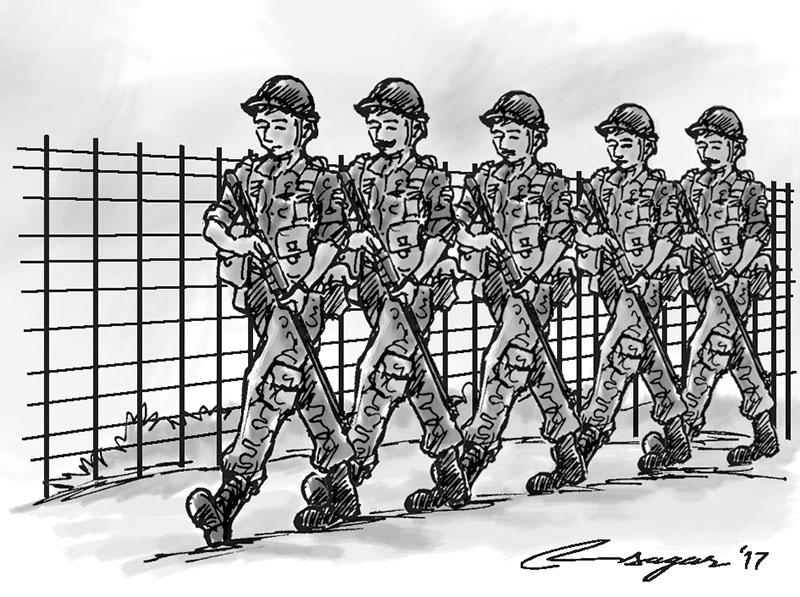 Nepal Army. Illustration: Ratna Sagar Shrestha/THT