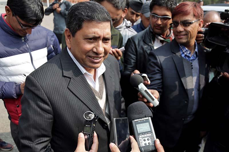 FILE - Spokesperson of Nepal Communist Party (NCP) Narayan Kaji Shrestha. Photo: THT