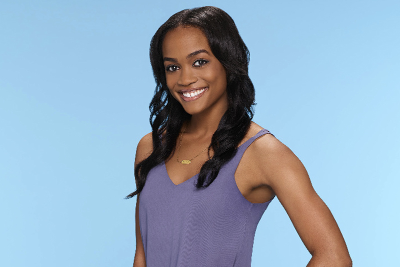 This image provided by ABC shows Rachel Lindsay, who ABC named as its first black woman to be the u0093Bacheloretteu0094 for the 13th season of u0093The Bacheloru0094 spinoff. The announcement came Monday, Feb. 13, 2017, on ABCu0092s u0093Jimmy Kimmel Live.u0094 Photo: AP