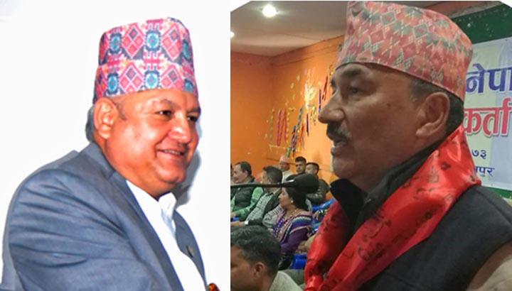 Rastriya Prajatantra Party leaders Sunil Bahadur Thapa (left) and Kamal Thapa. THT file photos.
