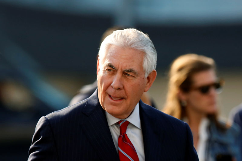 US Secretary of State Rex Tillerson arrives in Mexico City, Mexico, on February 22, 2017. Photo: Reuters