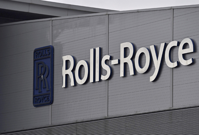 FILE PHOTO - A Rolls-Royce logo is seen at the company's aerospace engineering and development site in Bristol, Britain, December 17, 2015. Photo: Reuters
