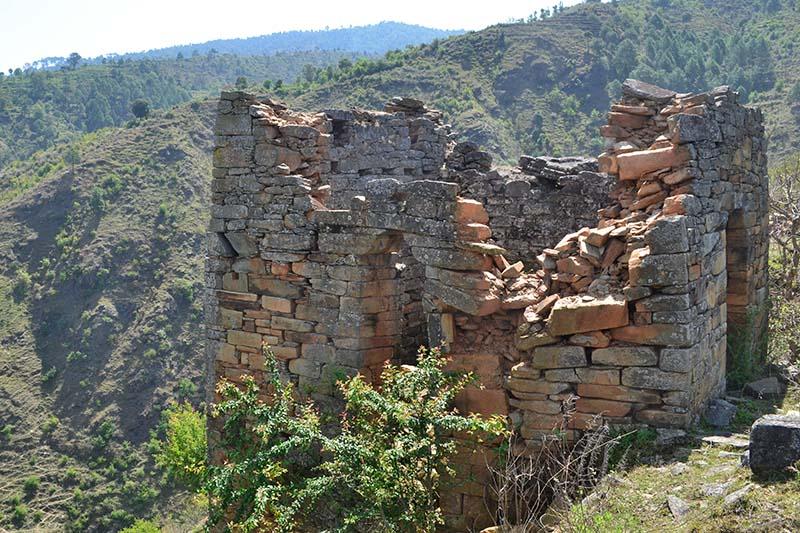 Ruins of a palace built by king Nagi Malla, at Ajayamerukot, Dadeldhura, on Friday, February 10, 2017. Photo: THT