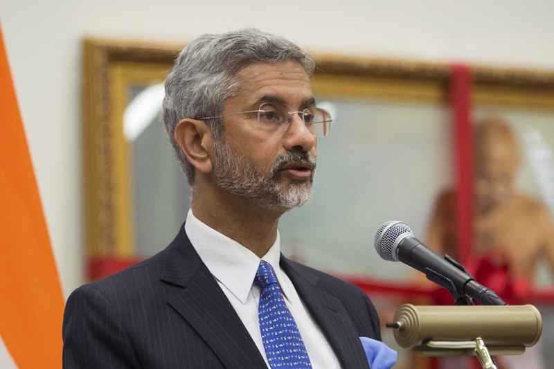 FILE - In this Oct. 2, 2015, file photo, India's Foreign Secretary S. Jaishankar speaks during a special event to recognize the International Day of Non-Violence at the United Nations headquarters. Photo: AP