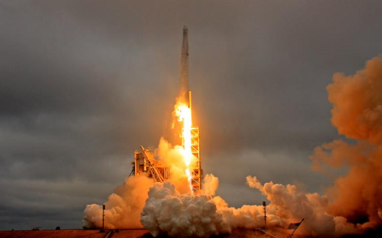 A SpaceX Falcon 9 rocket lifts off on a supply mission to the International Space Station from historic launch pad 39A at the Kennedy Space Center in Cape Canaveral, Florida, U.S., February 19, 2017. REUTERS/Joe Skipper