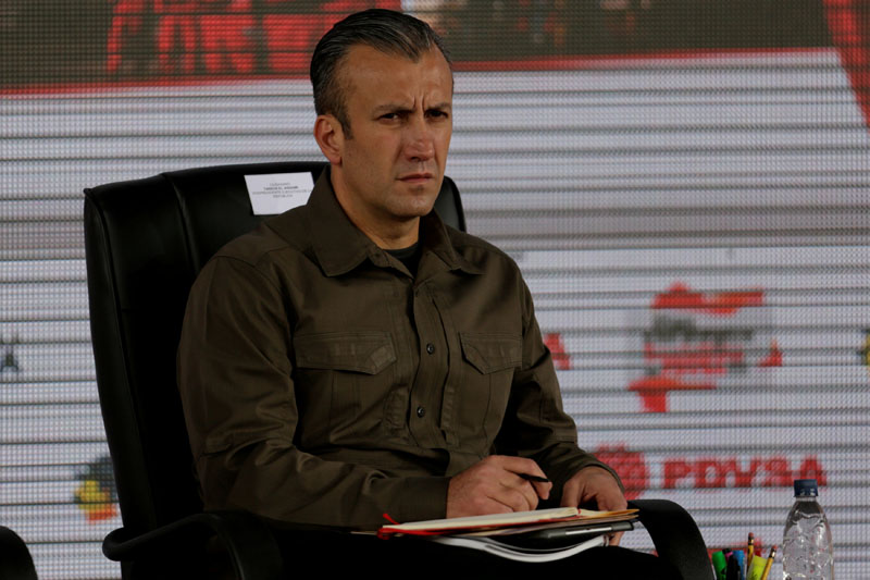 Venezuela's Vice President Tareck El Aissami attends the swearing-in ceremony of the new board of directors of Venezuelan state oil company PDVSA in Caracas, Venezuela, on January 31, 2017. Photo: Reuters