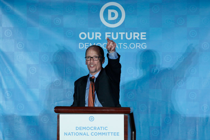 Tom Perez addresses the audience after being elected Democratic National Chair during the Democratic National Committee winter meeting in Atlanta, Georgia, on February 25, 2017. Photo: Reuters