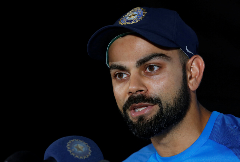 India's captain Virat Kohli speaks during a news conference. Photo: Reuters