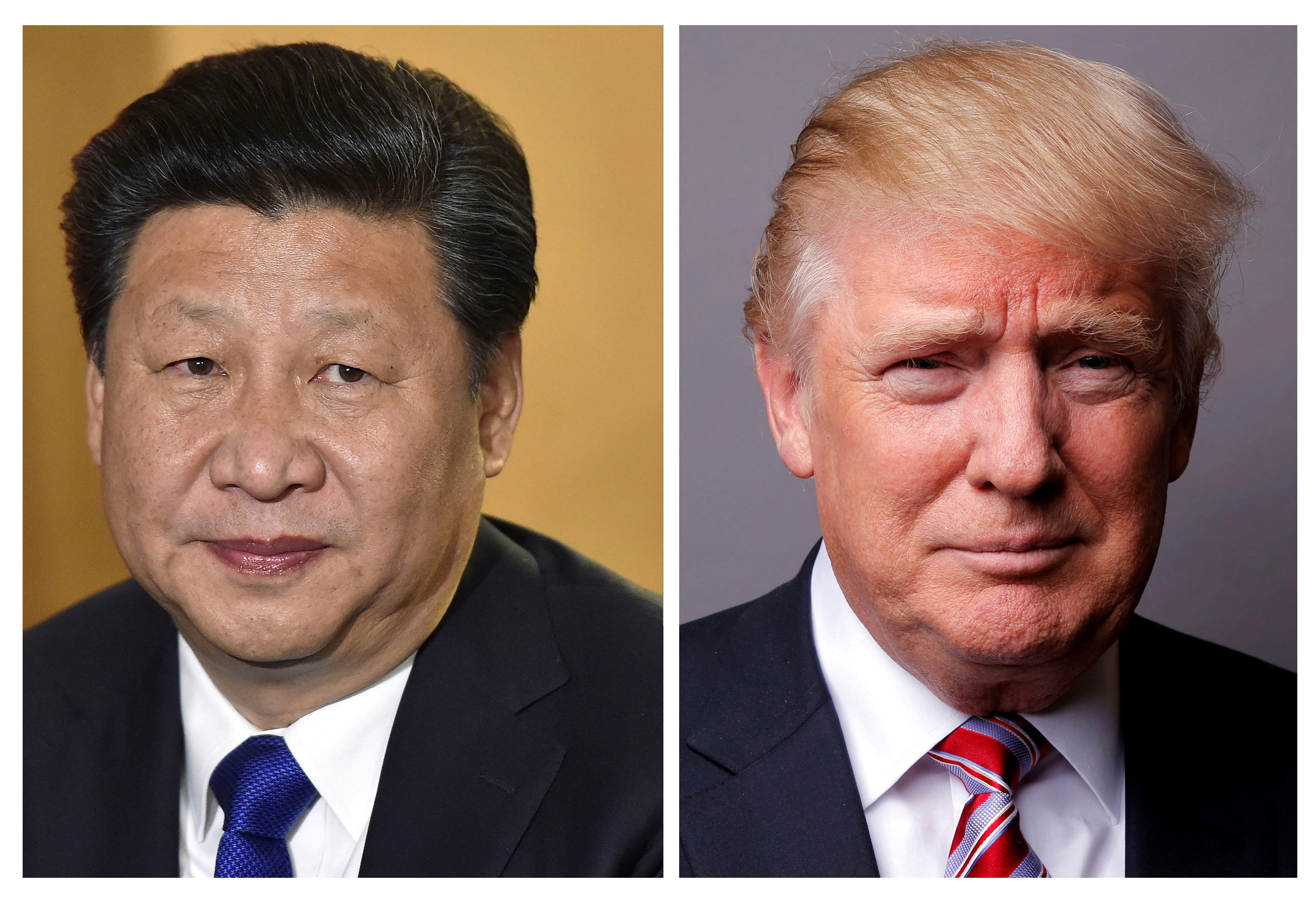 A combination of file photos showing Chinese President Xi Jinping (L) and US President Donald Trump. Photos: Reuters
