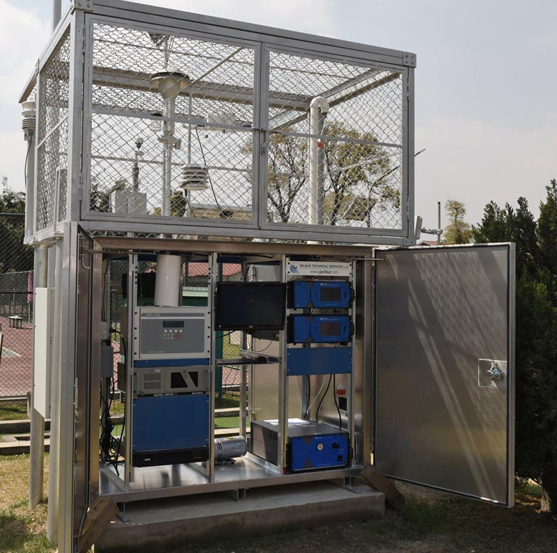 Air Quality Monitoring station at Ratnapark. Photo: US Embassy in Kathmandu