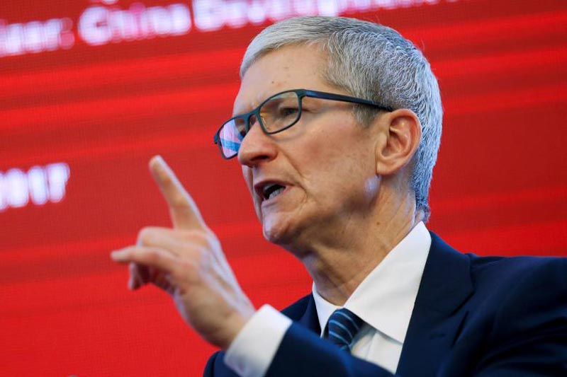 Apple CEO Tim Cook attends the China Development Forum in Beijing, China, March 18, 2017. Photo: Reuters