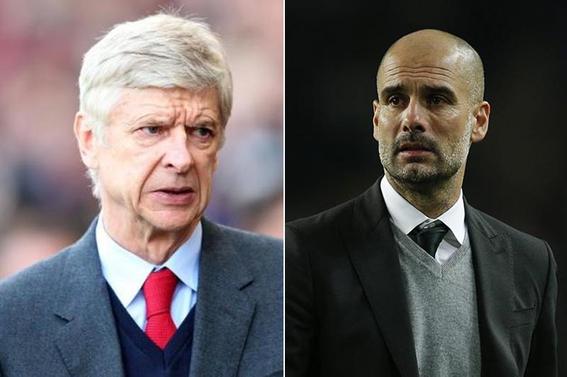 Arsenal's Arsene Wenger and Manchester City Pep Guardiola. File photos: Reuters