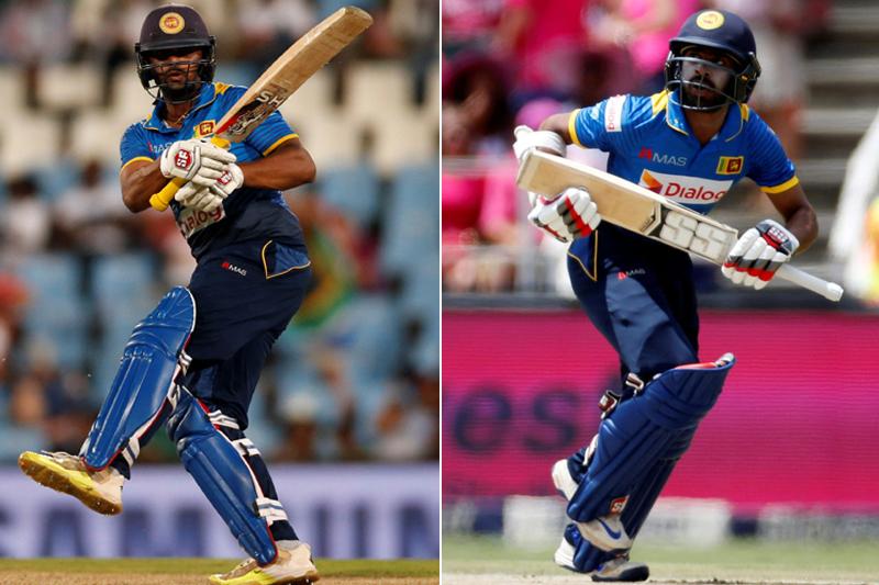 File: Sri Lankan batsman Asela Gunaratne (left) and Niroshan Dickwella. Photos: Reuters