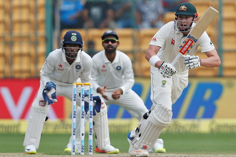 Australia's Matt Renshaw plays a shot. Photo: Reuters