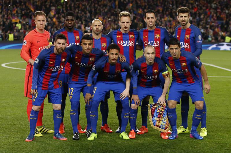Barcelona team. Photo: Reuters