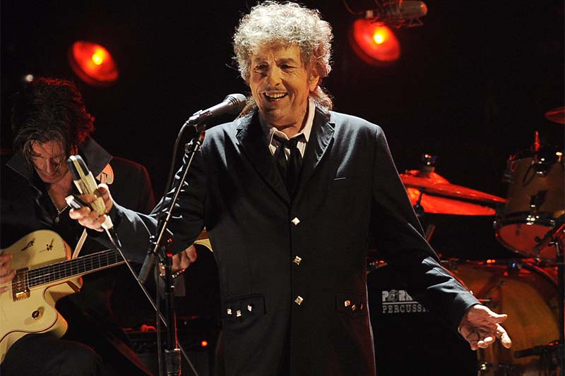 Bob Dylan performs in Los Angeles, on January 12, 2012. Photo: AP/File