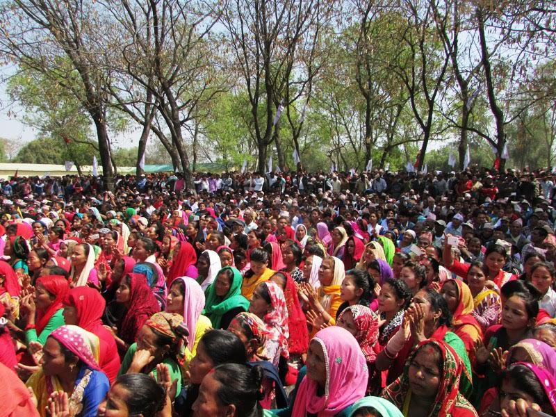 FILE: Locals attending a programme organised by the CPN-UML during the partyu2019s Mechi-Mahakali national campaign in Nepalgunj, Banke, on Tuesday, March 14, 2017. Photo: THT