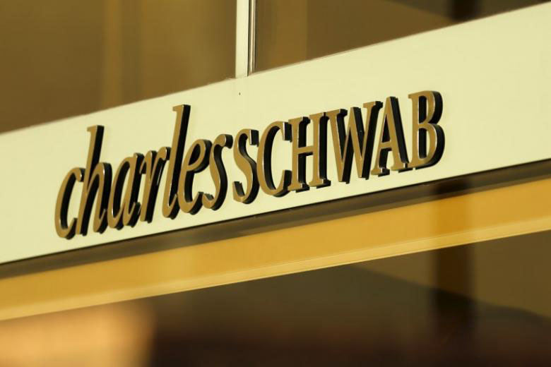File - A Charles Schwab office is shown in Los Angeles, California on January 29, 2016. Photo: Reuters