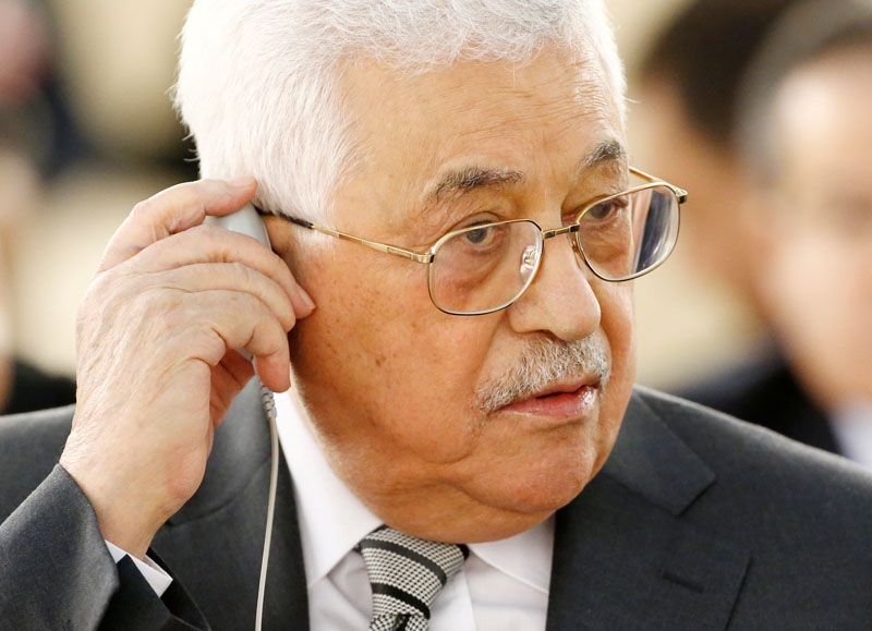 File - Palestinian President Mahmoud Abbas attends the 34th session of the Human Rights Council at the European headquarters of the United Nations in Geneva, Switzerland, on February 27, 2017. Photo: Reuters