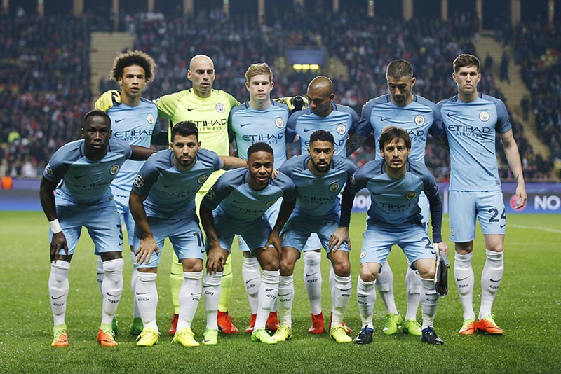 Manchester City team. Photo: Reuters