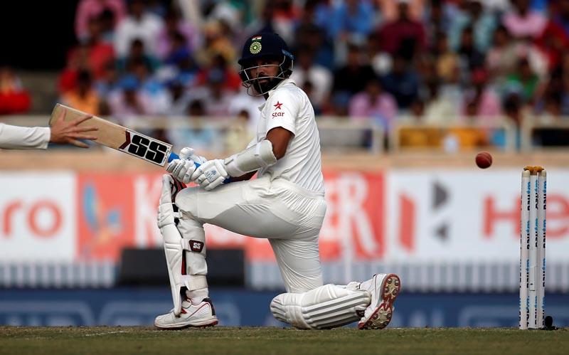 India's Murali Vijay plays a shot. Photo: Reuters