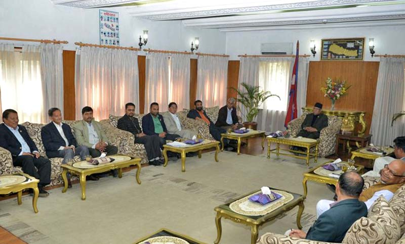 FILE: A meeting of the ruling coalition and the leaders of United Democratic Madhesi Front (UDMF) at the PM's residence in Baluwatar, on Wednesday, March 8, 2017. Photo Courtesy: PM's Secretariat