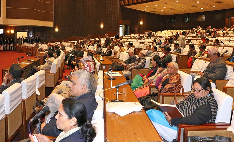 Lawmakers taking part in the Parliament meeting on March 14, 2017. Photo: RSS