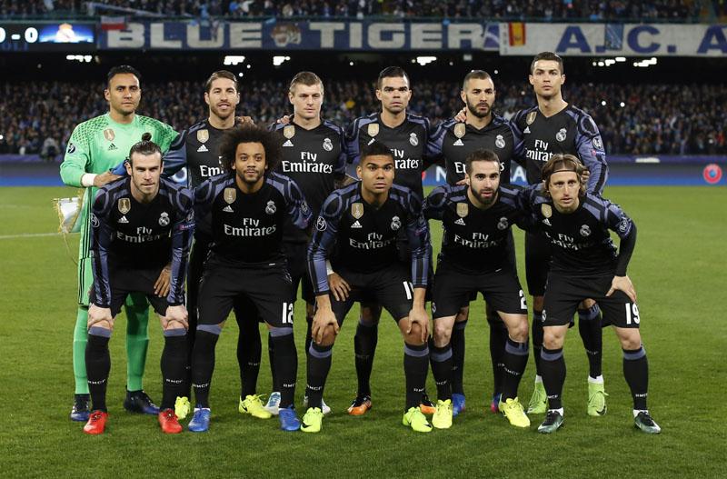 Real Madrid team. Photo: Reuters